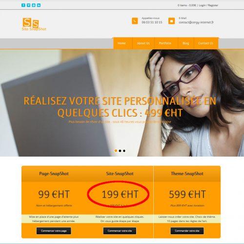 Site-SnapShot – Premier paiement