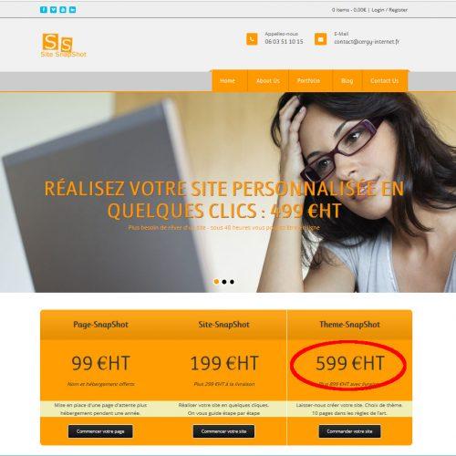 Theme-SnapShot – Premier paiement
